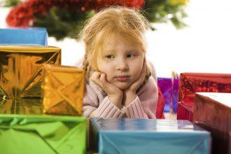 spoilt children at christmas